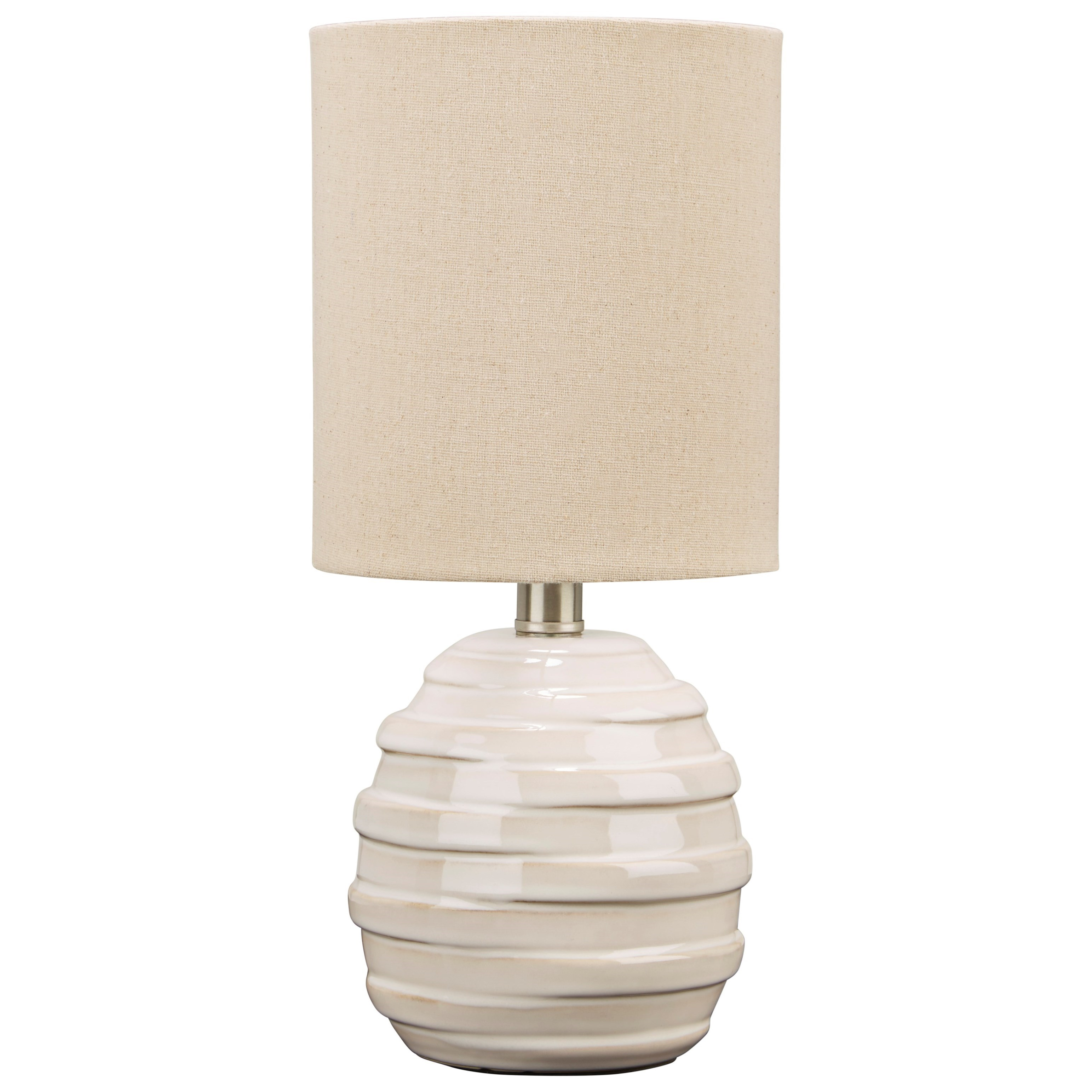 Lamps - Casual Glennwick White Ceramic Table Lamp by Ashley (Signature Design) at Johnny Janosik