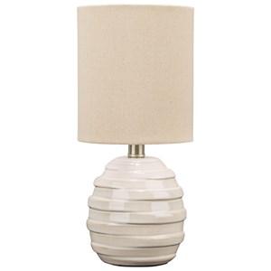 Glennwick White Ceramic Table Lamp
