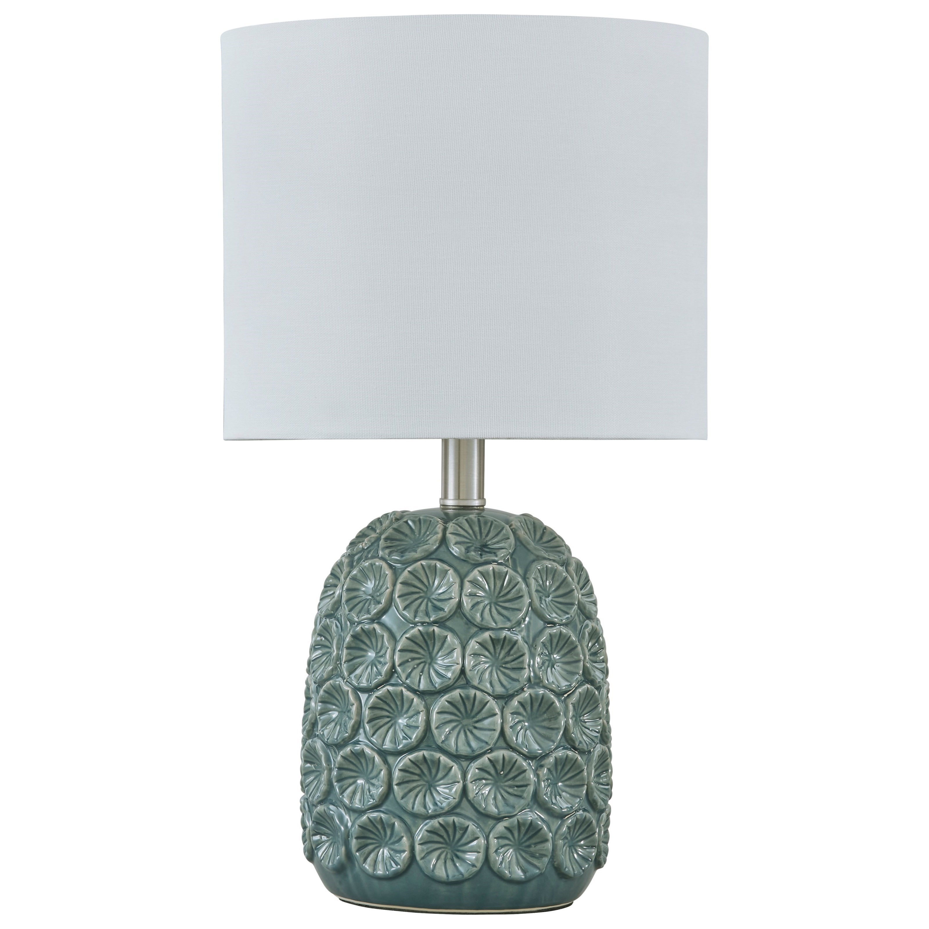 Lamps - Casual Moorbank Teal Ceramic Table Lamp by Signature Design by Ashley at Furniture Barn