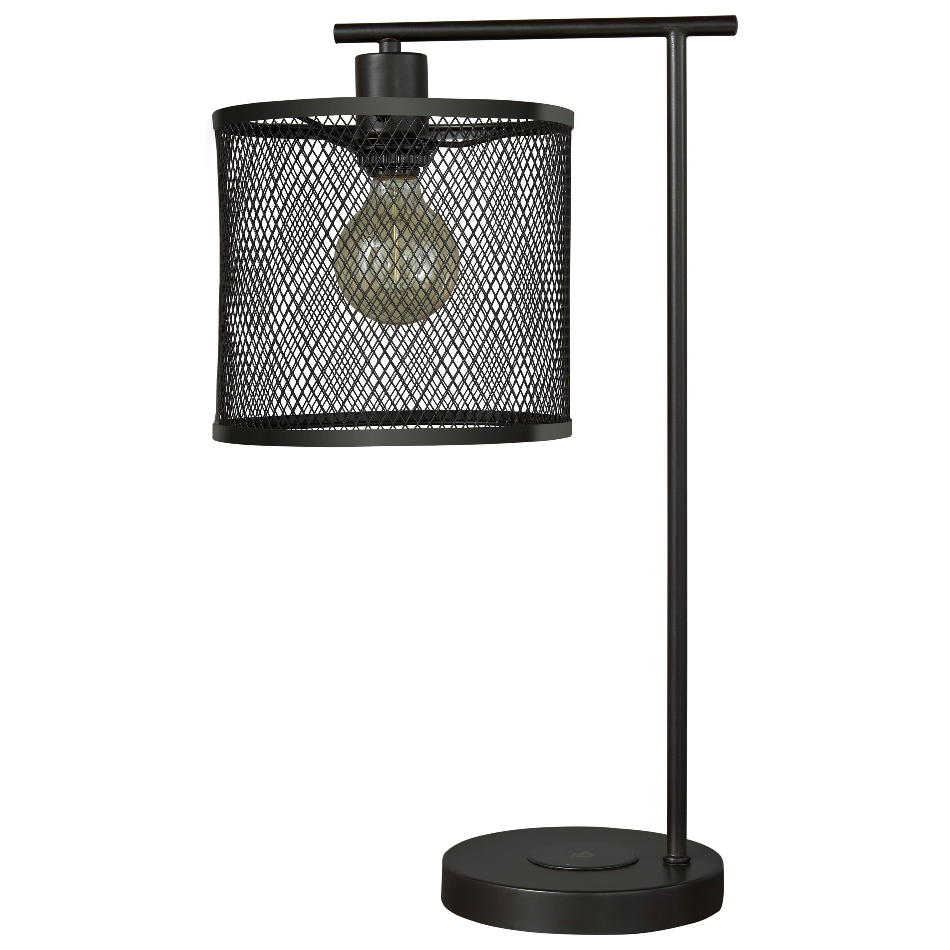 Lamps - Casual Nolden Bronze Finish Metal Desk Lamp by Signature at Walker's Furniture