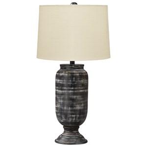 Mandelina Black Metal Table Lamp