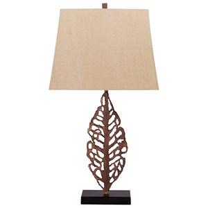 Set of 2 Jolisa Antique Brown Metal Table Lamps