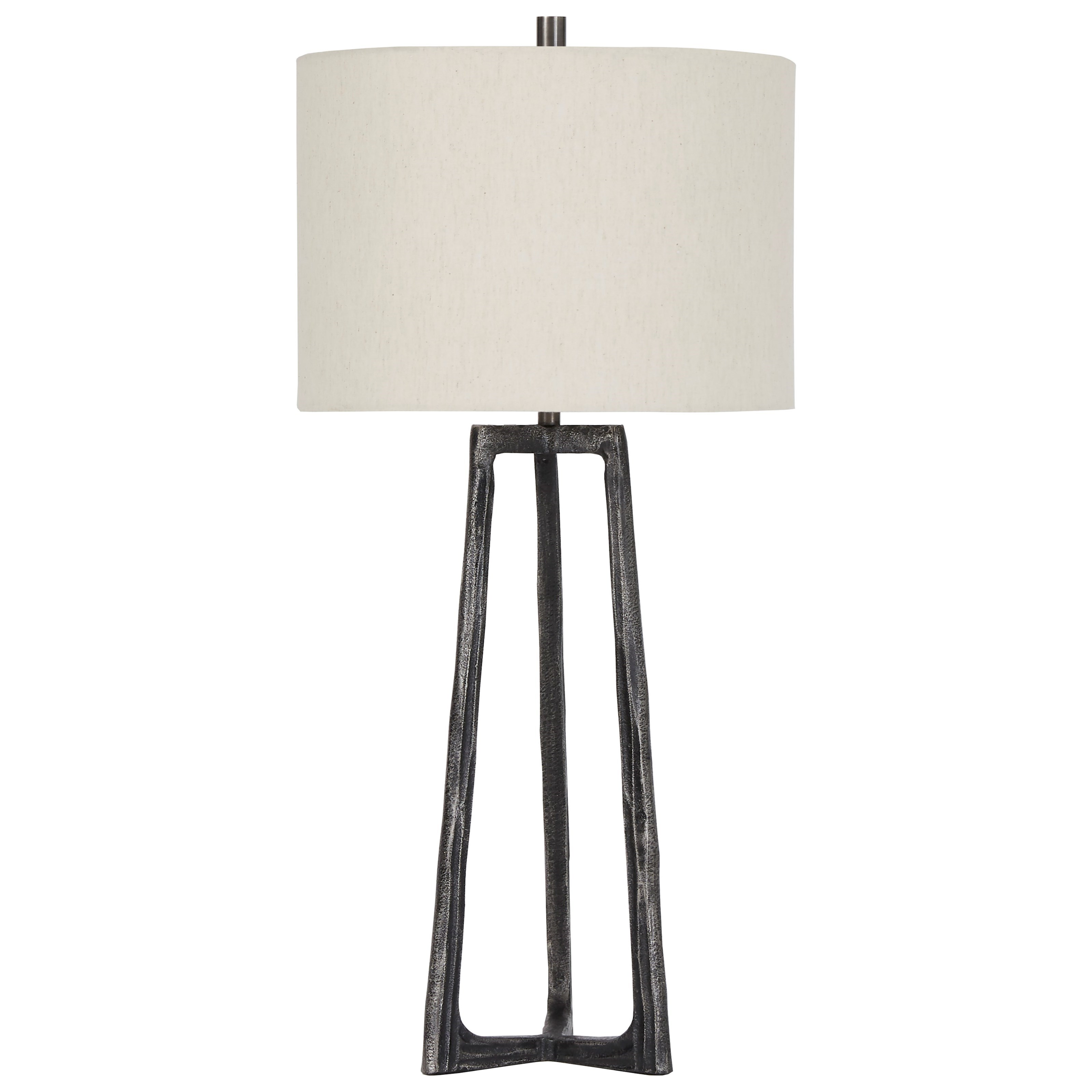 Lamps - Casual Peeta Antique Pewter Finish Metal Table Lamp at Van Hill Furniture
