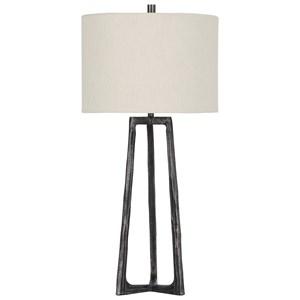 Peeta Antique Pewter Finish Metal Table Lamp