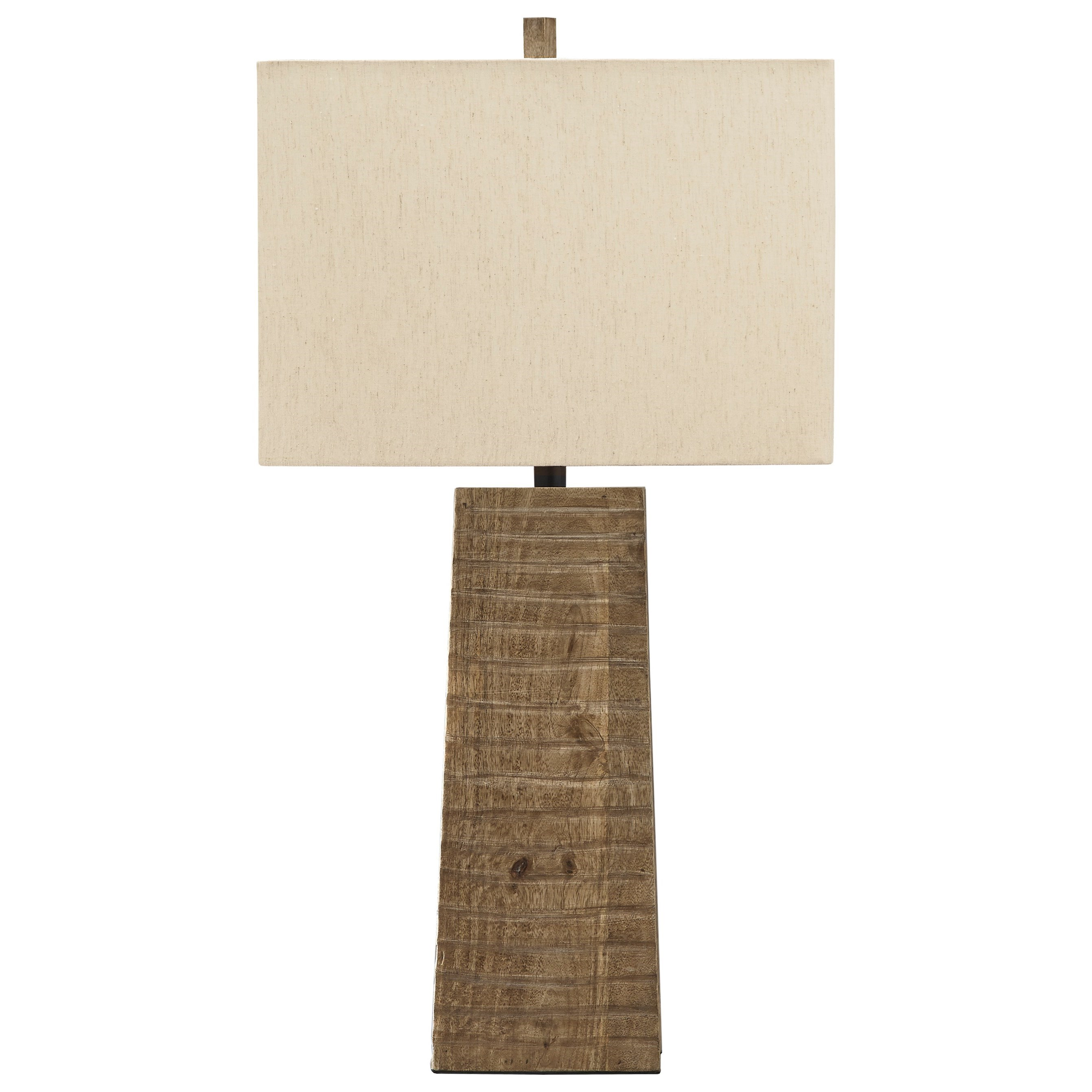 Lamps - Casual Deonte Brown Wood Table Lamp by Signature Design by Ashley at Northeast Factory Direct