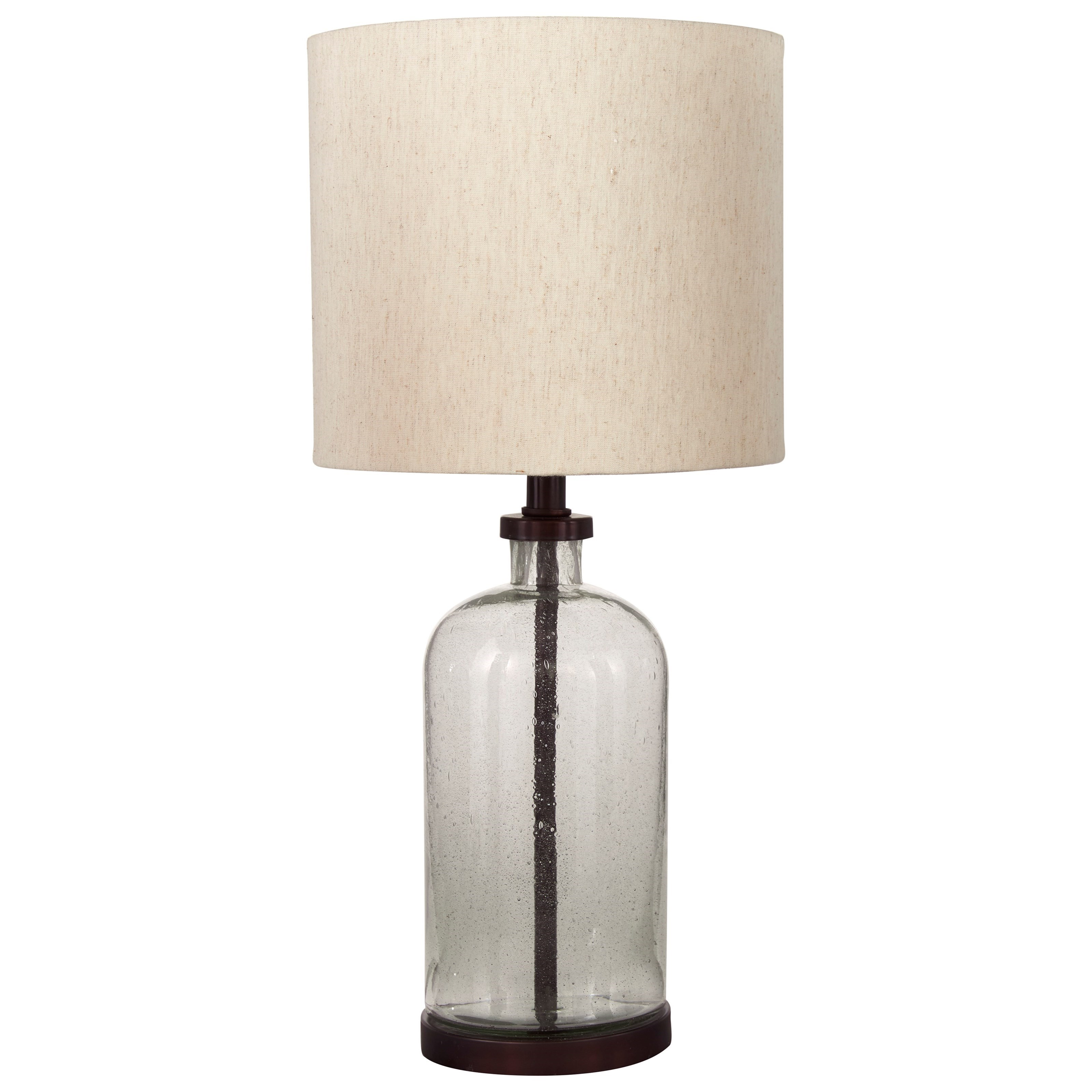 Lamps - Casual Bandile Clear/Bronze Finish Table Lamp by Signature Design by Ashley at Houston's Yuma Furniture