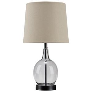 Arlomore Gray Glass Table Lamp