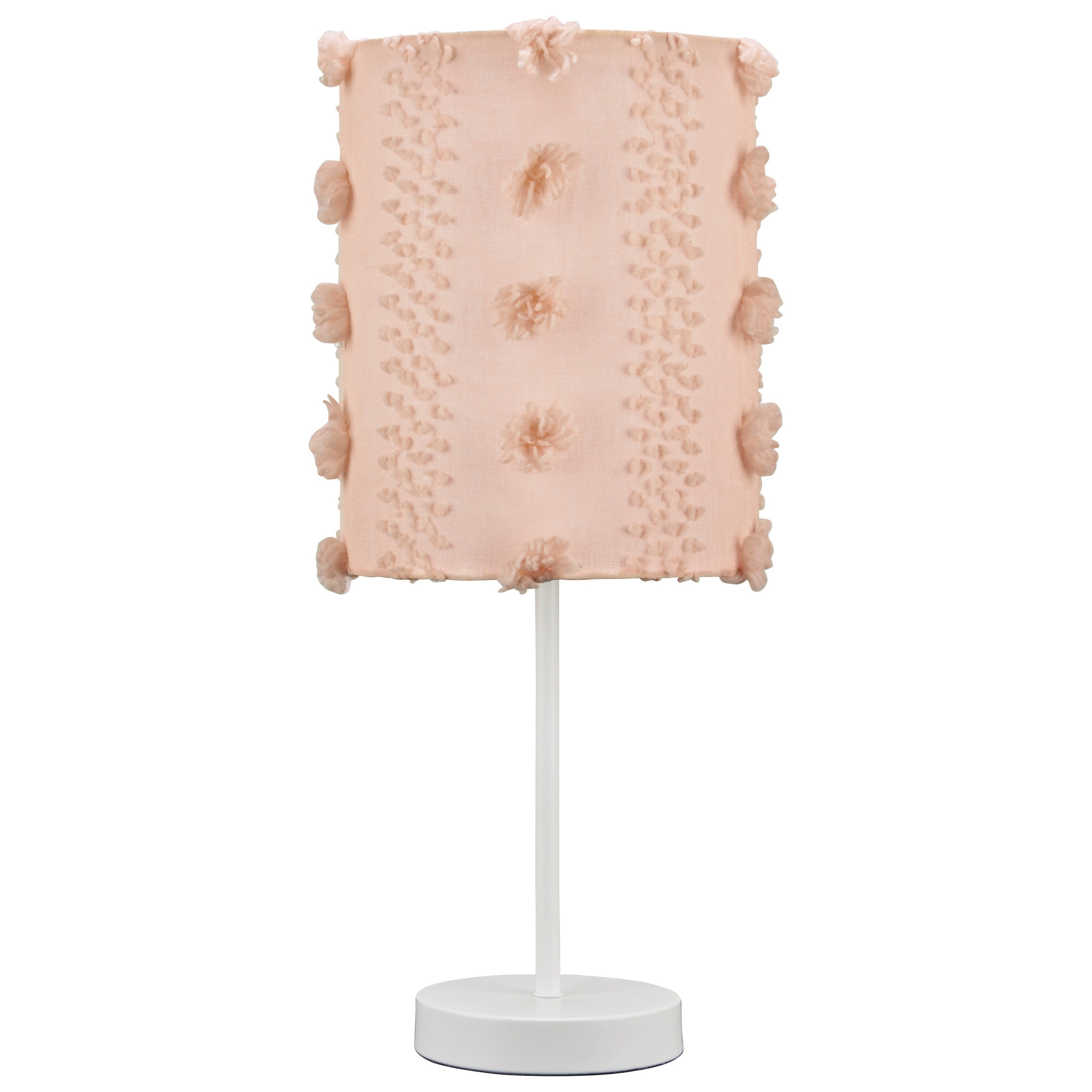 Lamps - Casual Kaelene Pink/White Metal Table Lamp by Ashley (Signature Design) at Johnny Janosik