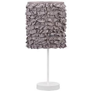Mirette Gray/White Metal Table Lamp