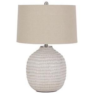 Jamon Beige Ceramic Table Lamp