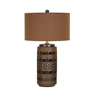 Set of 2 Shadeena Ceramic Table Lamps