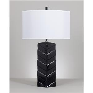 Set of 2 Ramla Black Ceramic Table Lamps