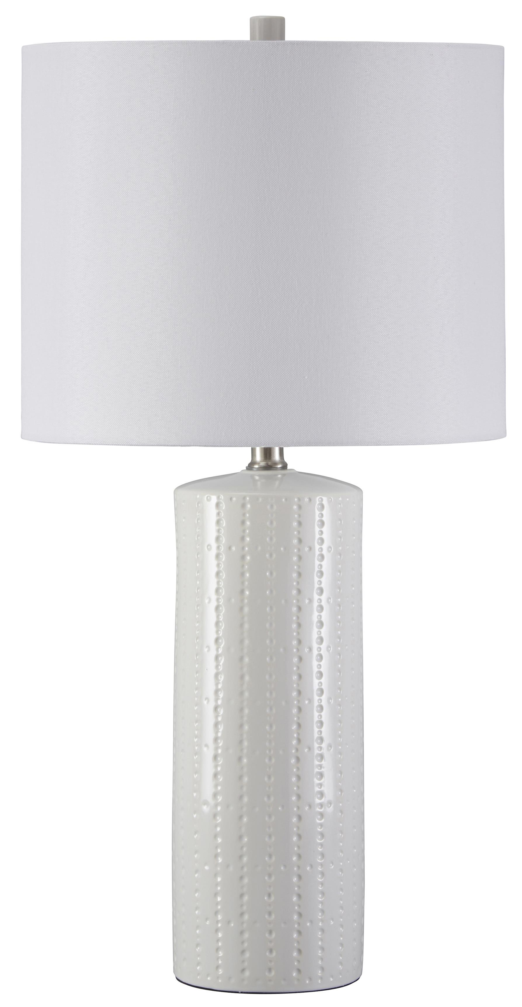 Lamps - Contemporary Set of 2 Steuben Ceramic Table Lamps by Ashley (Signature Design) at Johnny Janosik