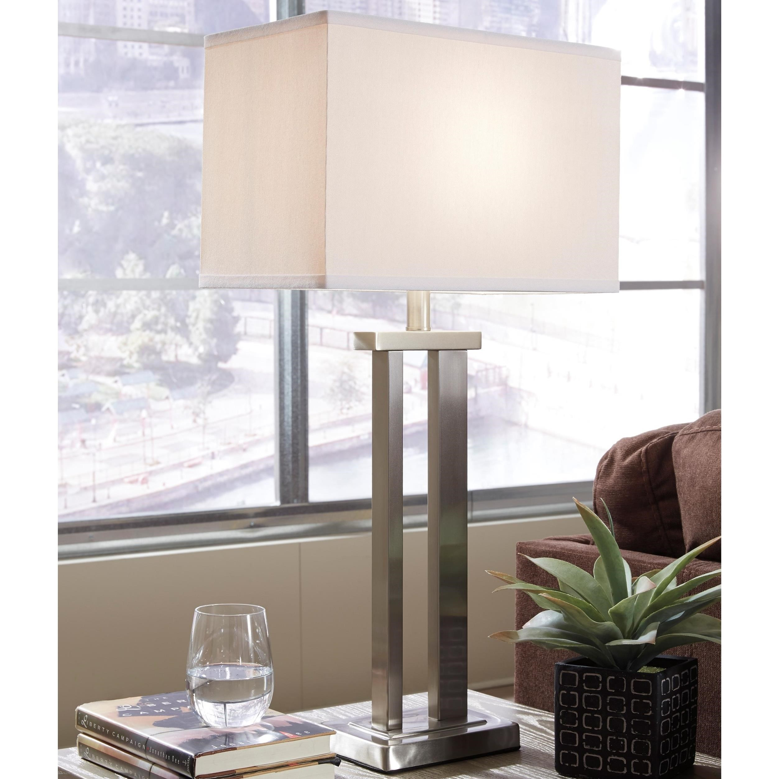 Lamps - Contemporary Aniela Metal Table Lamp by Ashley (Signature Design) at Johnny Janosik