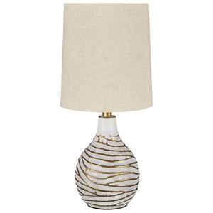 Aleela White/Gold Table Lamp