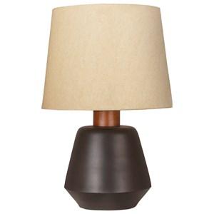 Ancel Black/Brown Metal Table Lamp