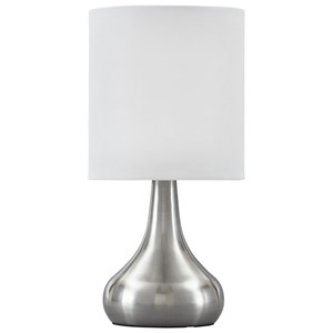 Camdale Silver Finish Metal Table Lamp