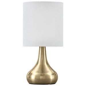 Camdale Brass Finish Metal Table Lamp