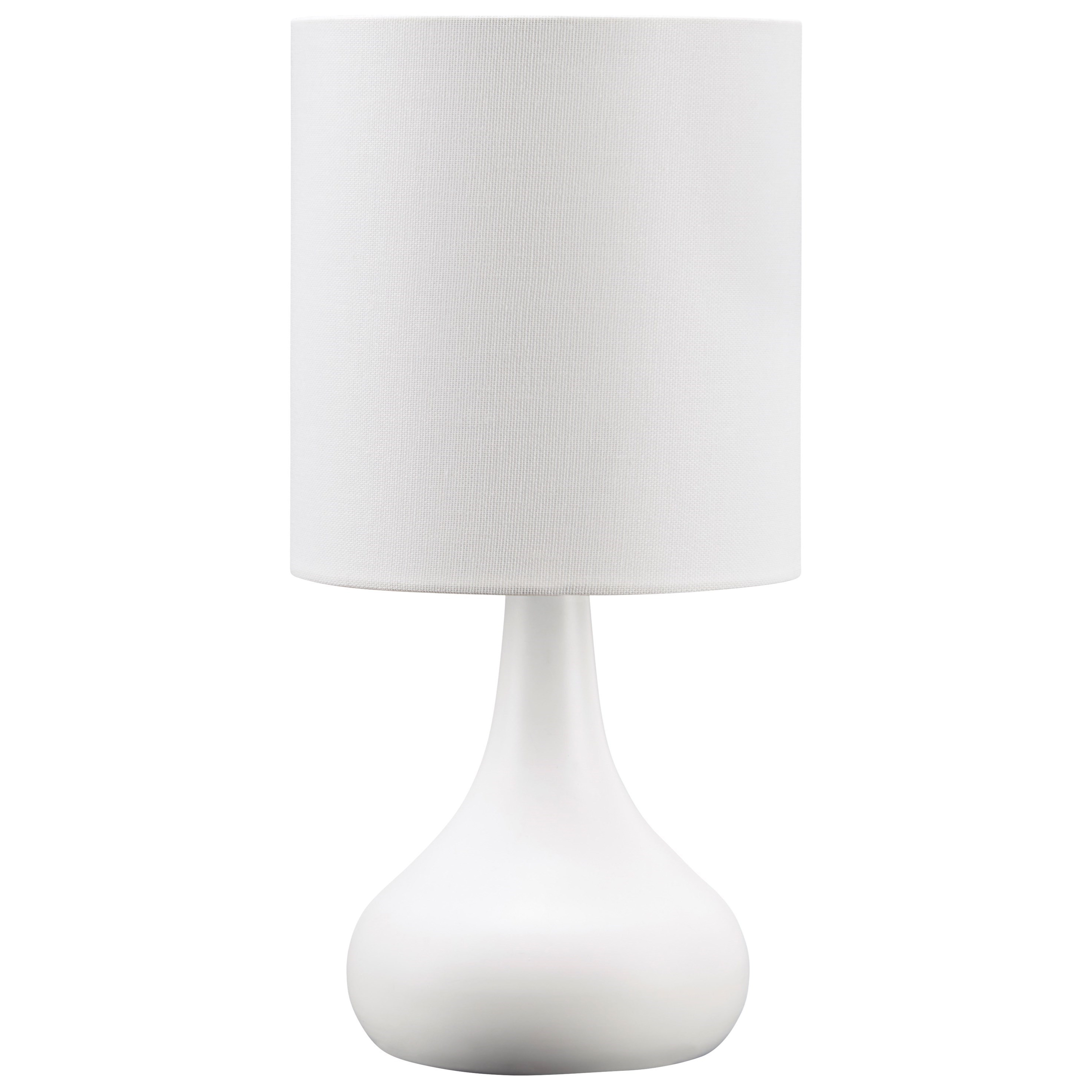 Lamps - Contemporary Lanry White Metal Table Lamp by Ashley (Signature Design) at Johnny Janosik