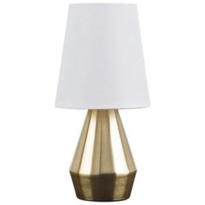 Lanry Brass Finish Metal Table Lamp
