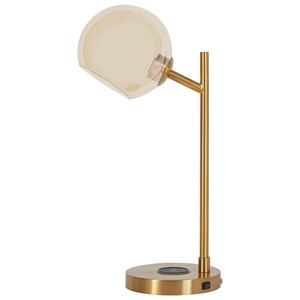 Abanson Gold Finish Metal Desk Lamp
