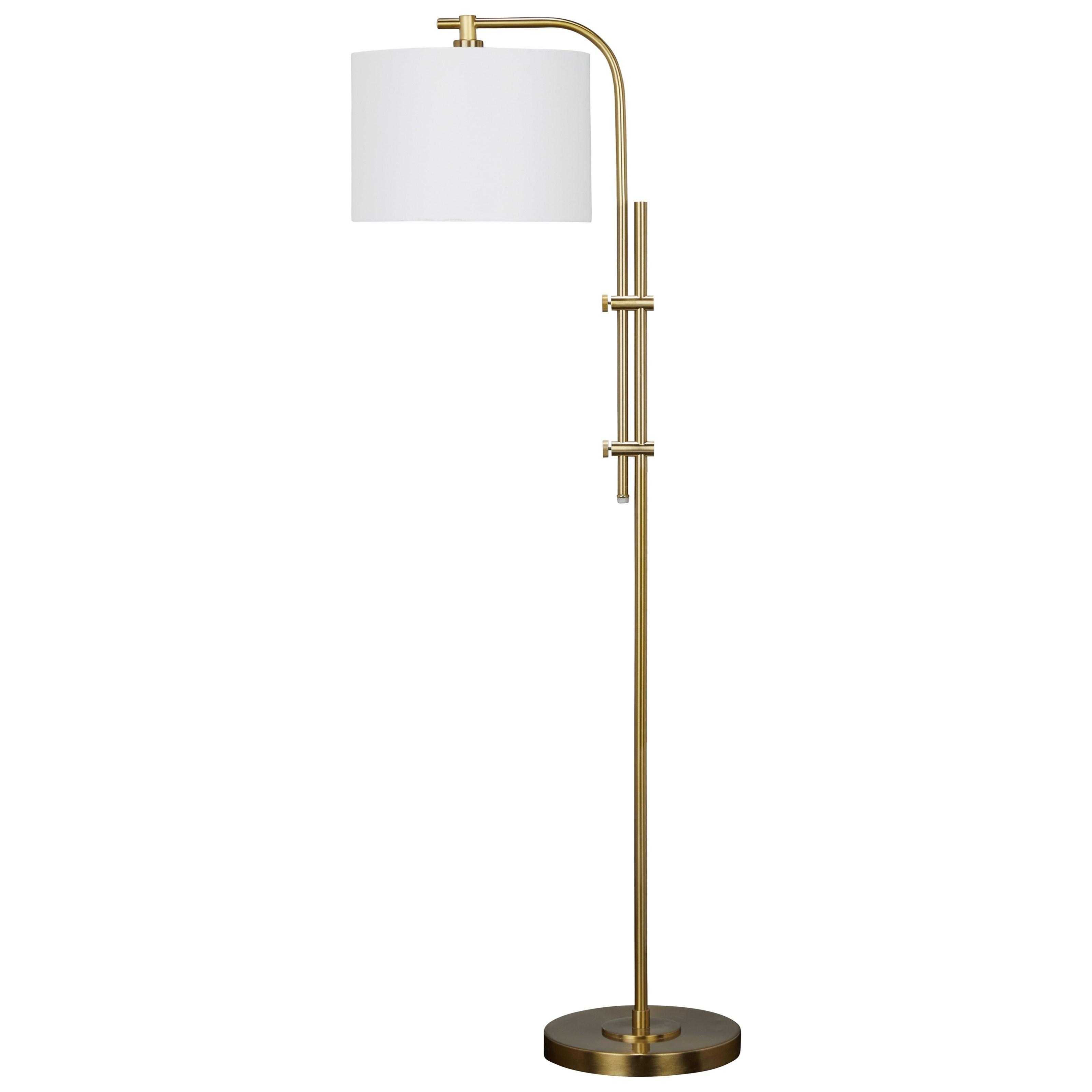 Baronvale Brass Finish Metal Floor Lamp
