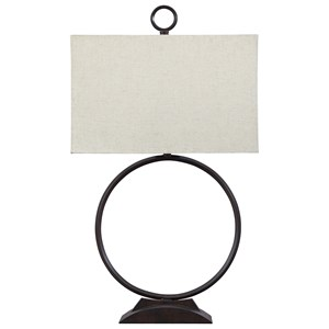 Signature Design by Ashley Lamps - Contemporary Fayth Bronze Finish Metal Table Lamp