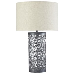 Signature Design by Ashley Lamps - Contemporary Traci Antique Black Table Lamp