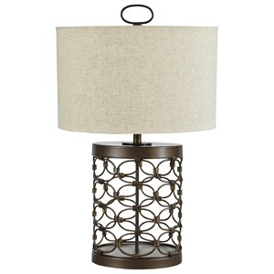 Signature Design by Ashley Lamps - Contemporary Aryan Black Finish Metal Table Lamp