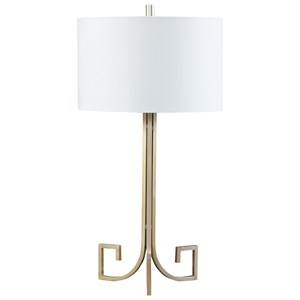 Signature Design by Ashley Lamps - Contemporary Jankin Champagne Finish Metal Table Lamp