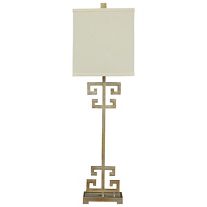 Signature Design by Ashley Lamps - Contemporary Jackin Gold Finish Metal Table Lamp