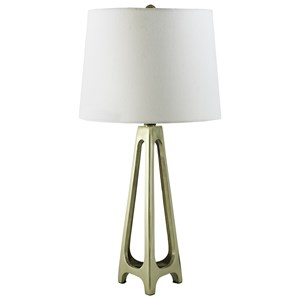 Set of 2 Howard Gold Finish Metal Table Lamps