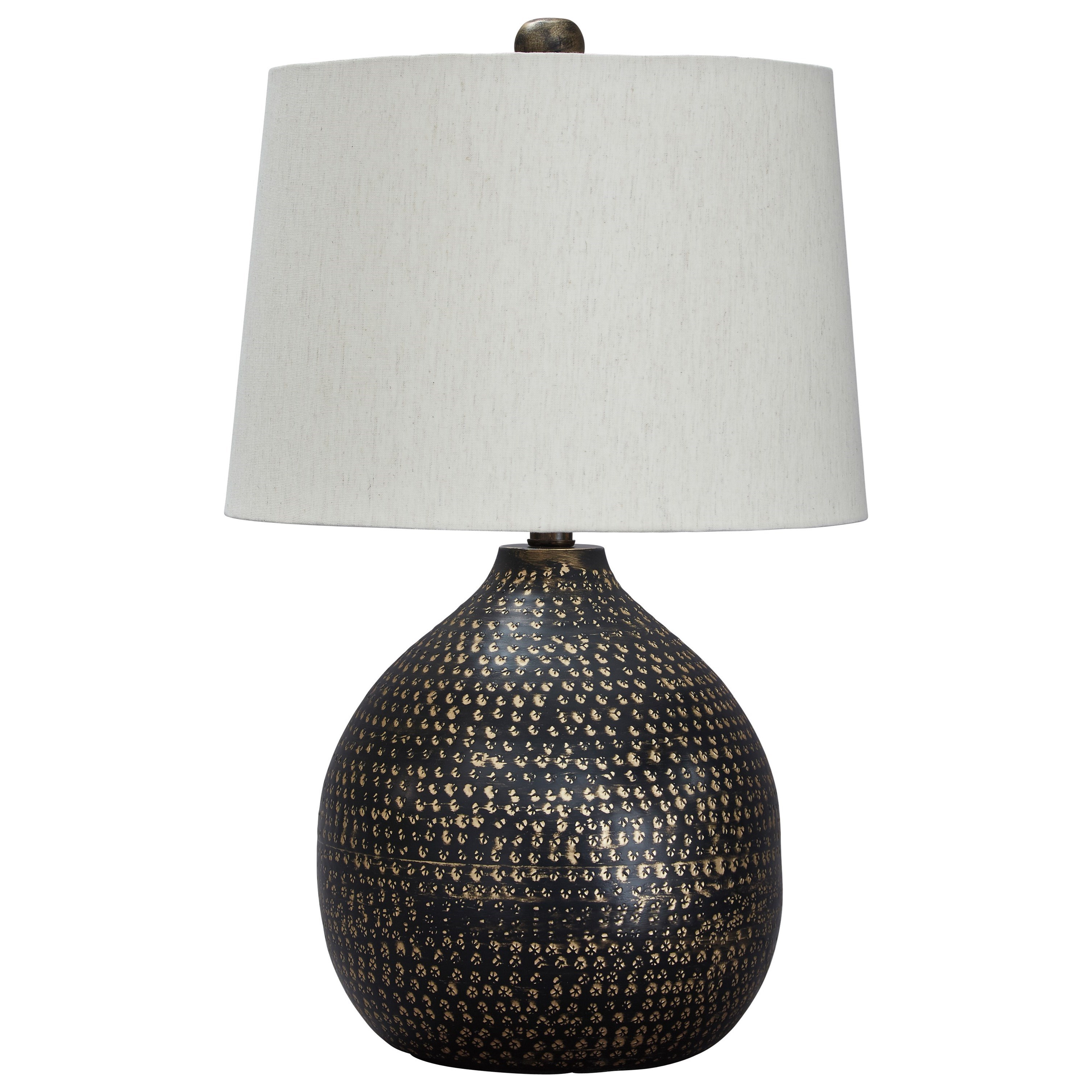 Lamps - Contemporary Maire Black/Gold Finish Metal Table Lamp by Signature Design by Ashley at Northeast Factory Direct