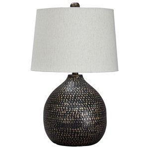 Maire Black/Gold Finish Metal Table Lamp