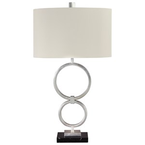 Set of 2 Mansoor Silver Finish Metal Table Lamps