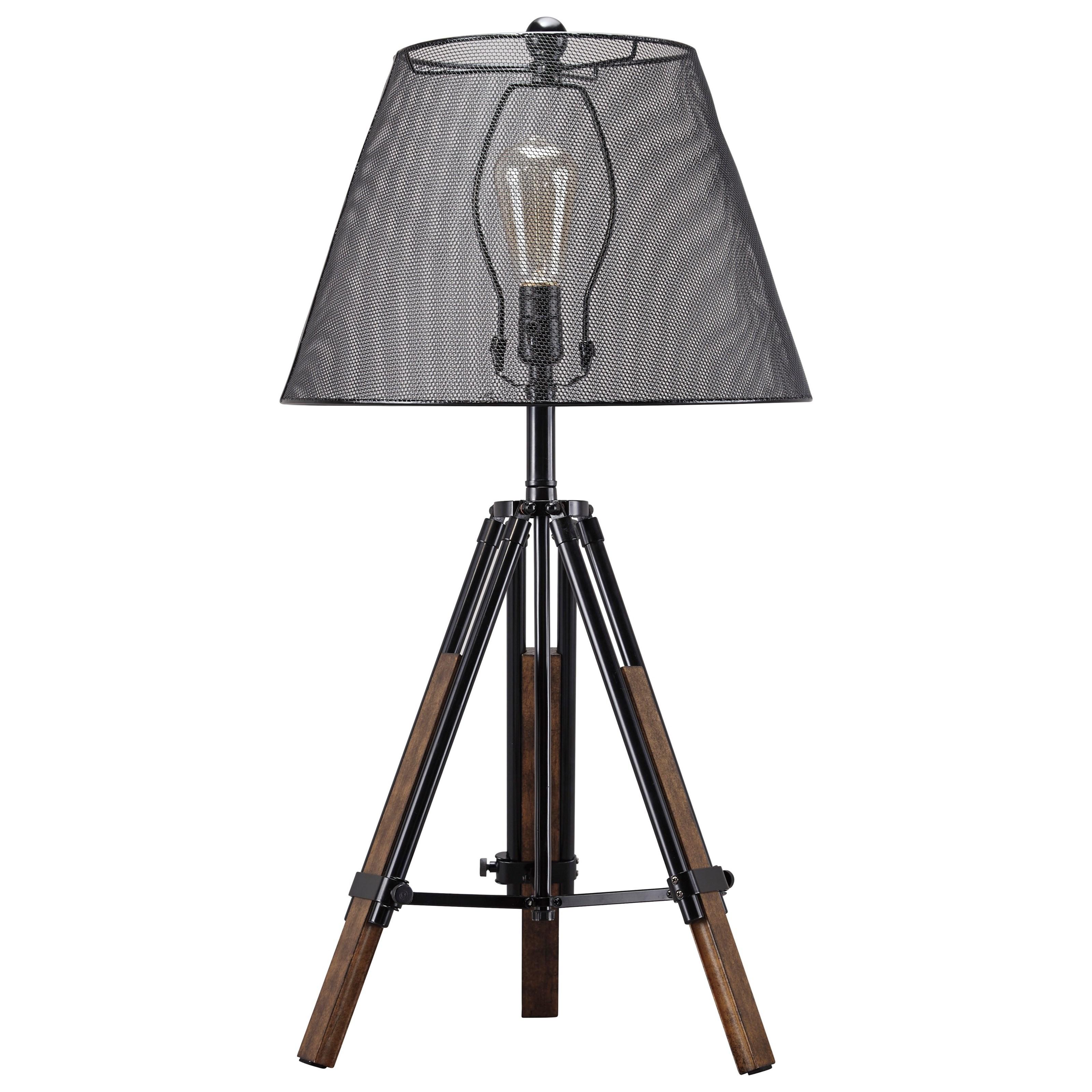 Leolyn Black/Brown Metal Table Lamp