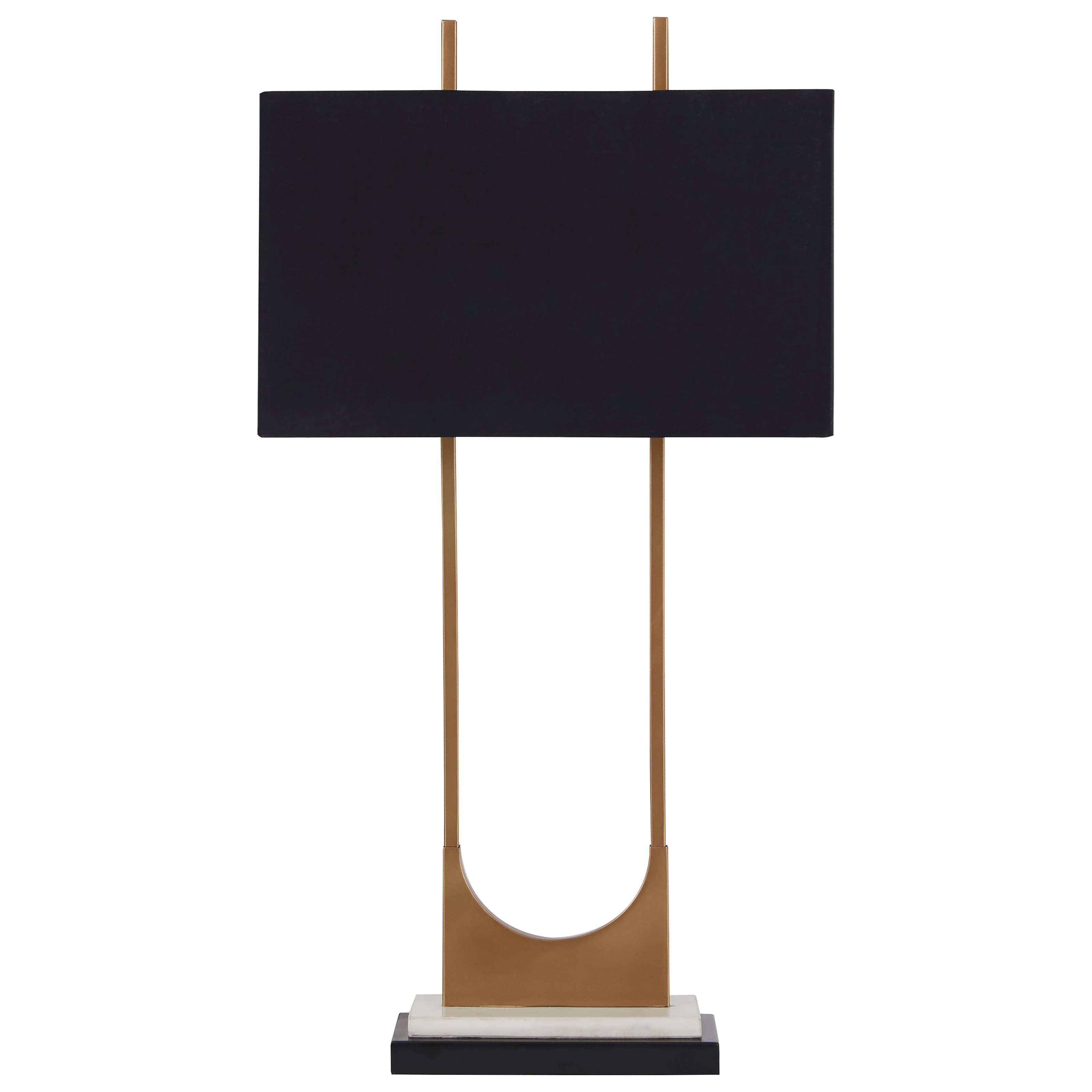 Lamps - Contemporary Malana Brass Finish Metal Table Lamp by Signature Design by Ashley at Standard Furniture