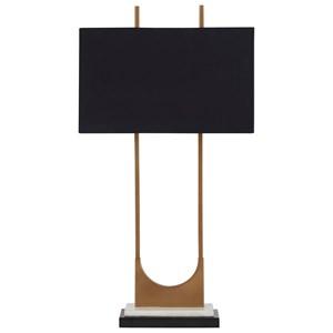 Malana Brass Finish Metal Table Lamp