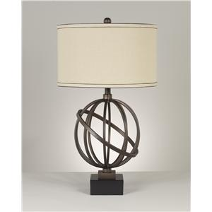 Signature Design by Ashley Lamps - Contemporary Set of 2 Shadell Metal Table Lamps