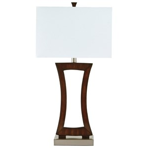 Signature Design by Ashley Lamps - Contemporary Danon Poly Table Lamp