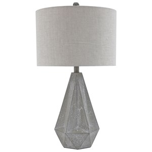 Signature Design by Ashley Lamps - Contemporary Set of 2 Ibby Gray Poly Table Lamps