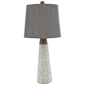Signature Design by Ashley Lamps - Contemporary Set of 2 Curtis White Paper Table Lamps