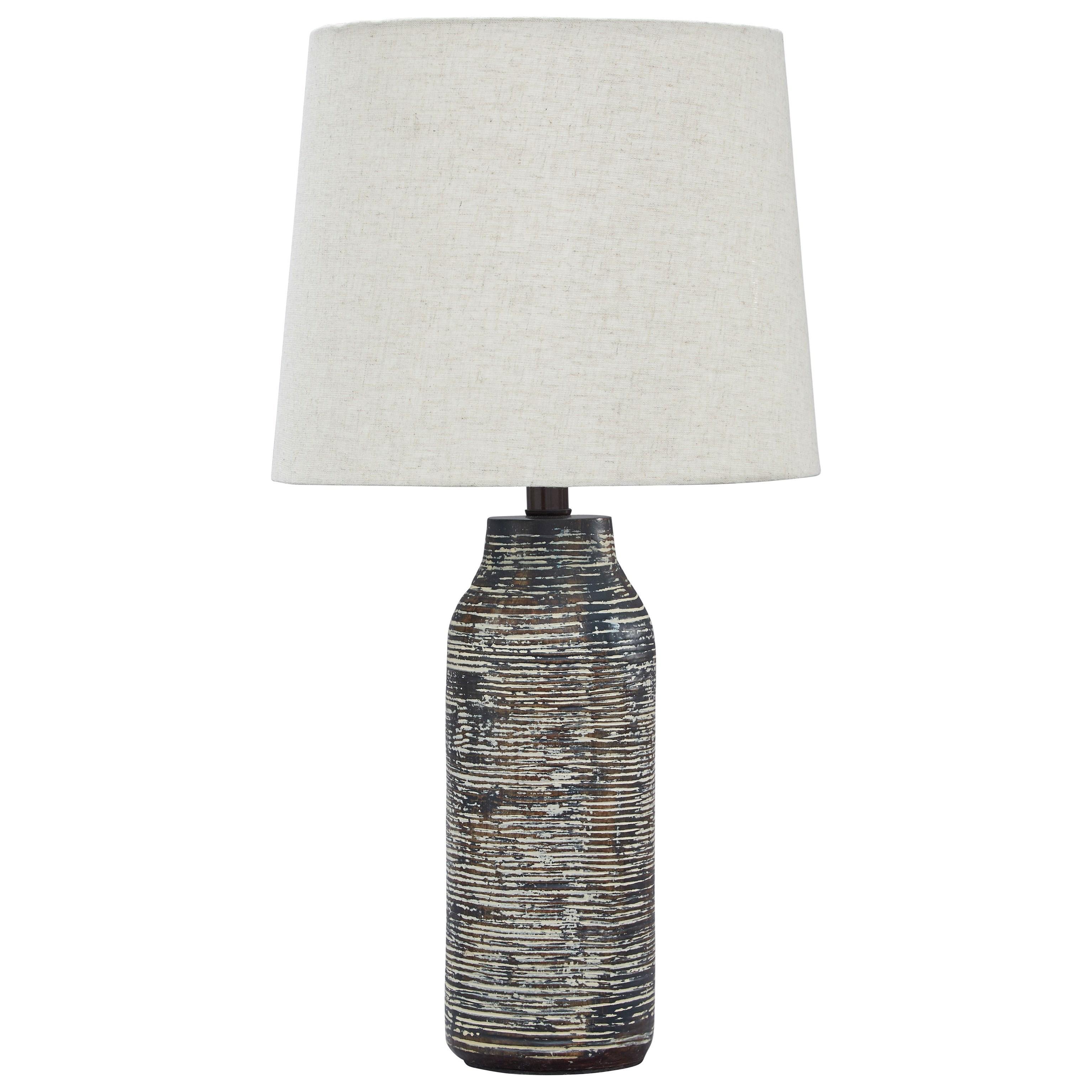 Set of 2 Mahima Black/White Table Lamps