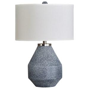 Kristeva Blue Metal Table Lamp