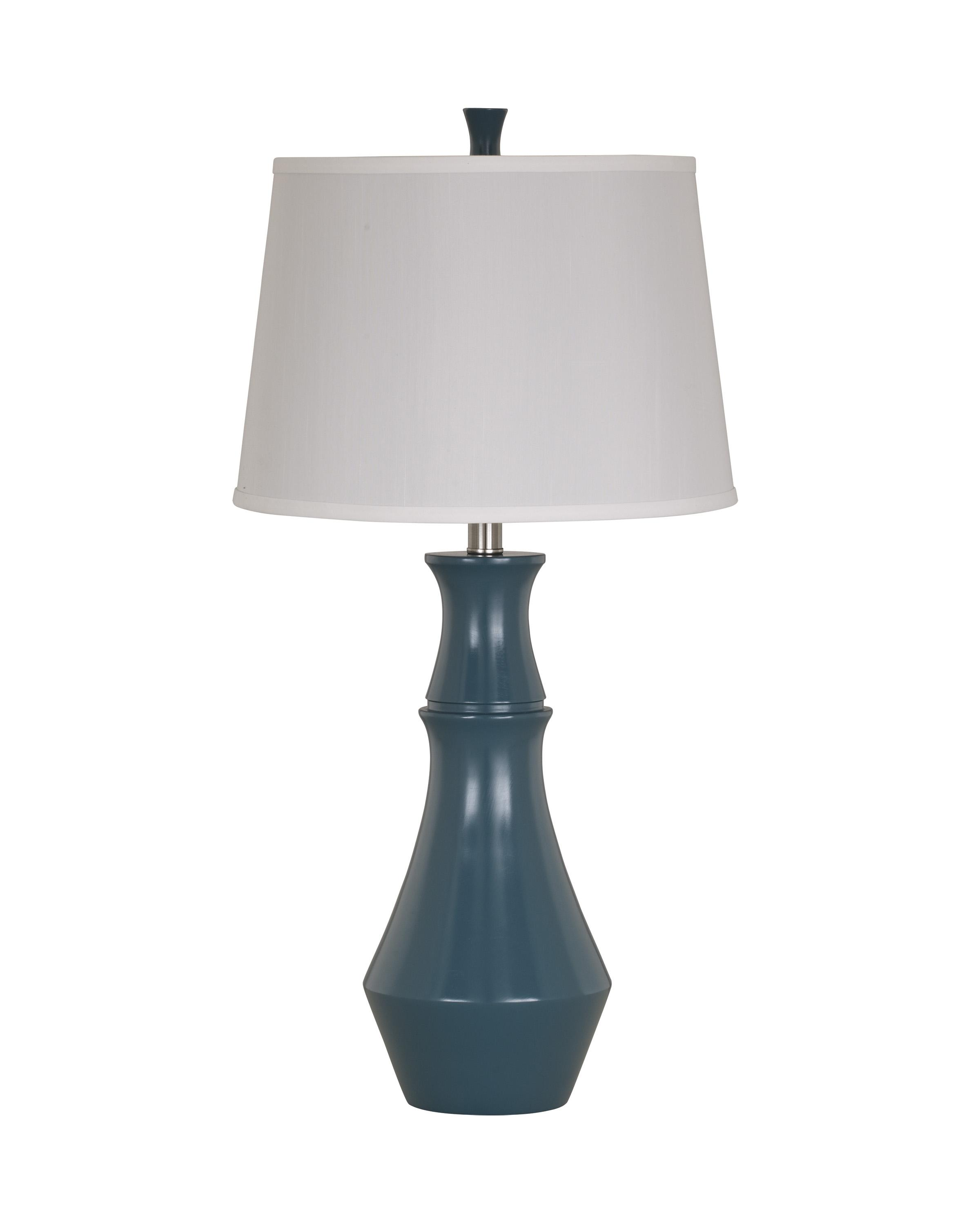 Lamps - Contemporary Set of 2 Sirilla Blue Poly Table Lamps by Ashley Furniture Signature Design at Del Sol Furniture