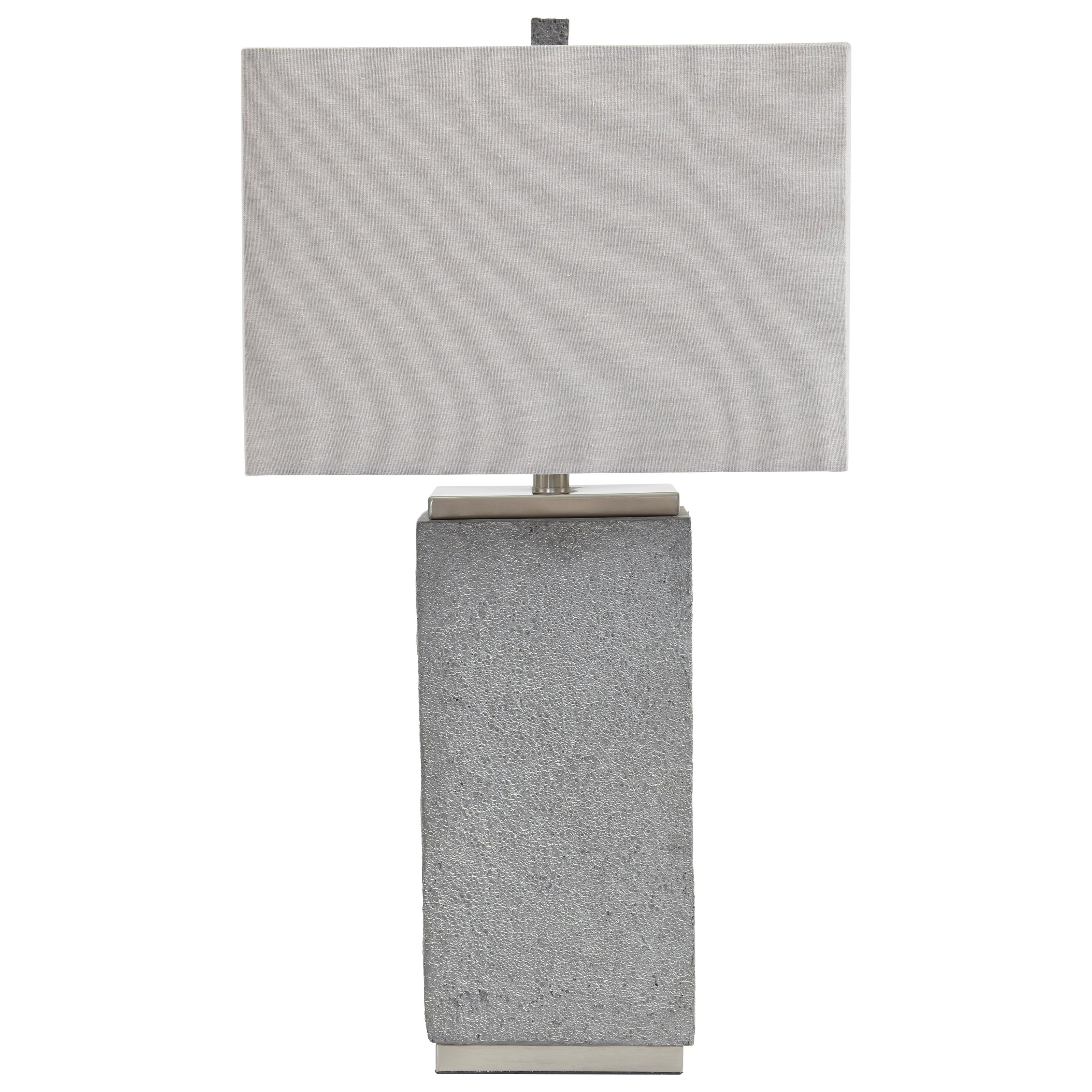 Lamps - Contemporary Set of 2 Amergin Faux Concrete Table Lamps by Signature Design by Ashley at Northeast Factory Direct