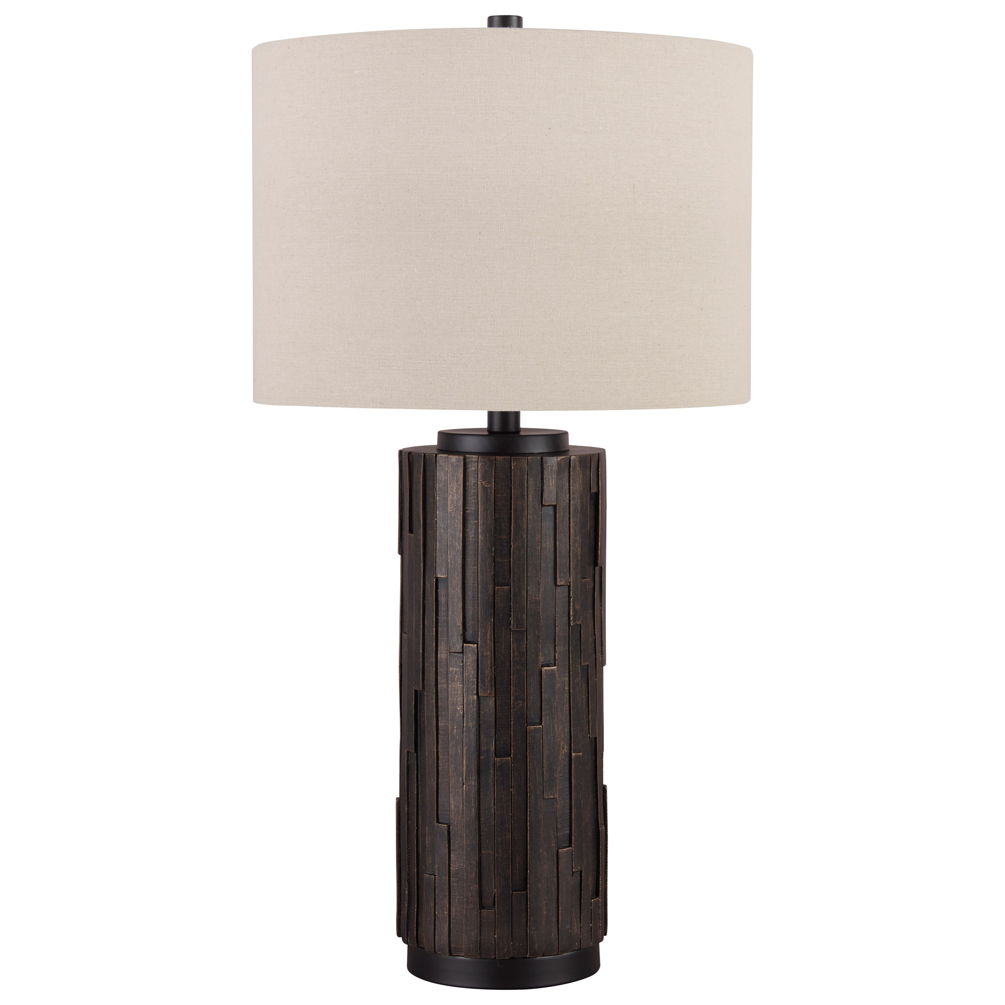 Lamps - Contemporary Makya Black/Gold Resin Table Lamp by Signature Design by Ashley at Northeast Factory Direct