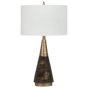 Lyrah Black/Gold Finish Wood Table Lamp