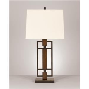 Signature Design by Ashley Lamps - Contemporary Set of 2 Omaris Metal Table Lamps
