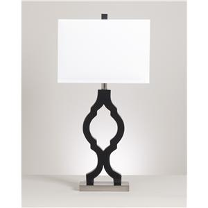 Signature Design by Ashley Lamps - Contemporary Set of 2 Rosetta Poly Table Lamps